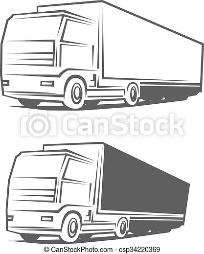Truck transportation logo. Logo truck design template.