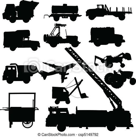 truck vector silhouettes - csp5149792
