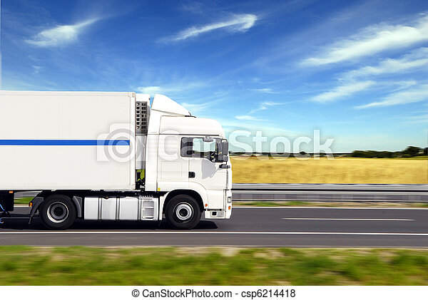 truck with freight - csp6214418