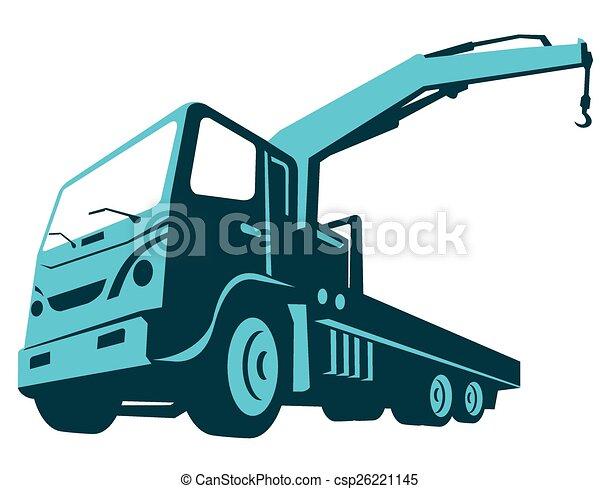 truck_crane-cartage-front-low - csp26221145