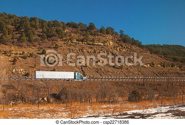 Trucking On Freeway - csp22718386