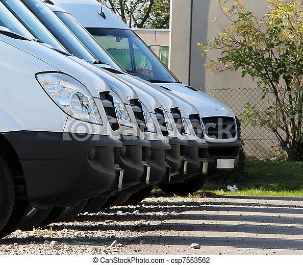 trucks in a row - csp7553562