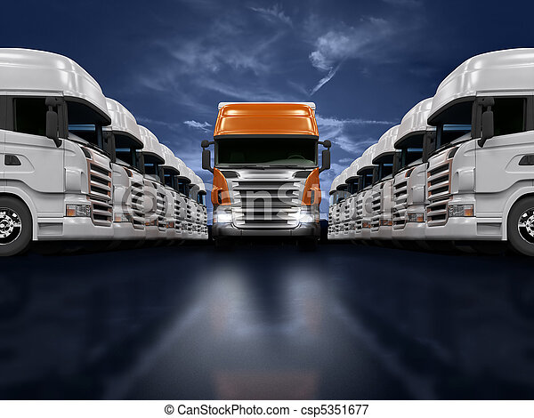 Trucks presentation - csp5351677