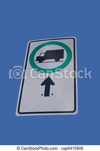 trucks this way sign - csp0415906