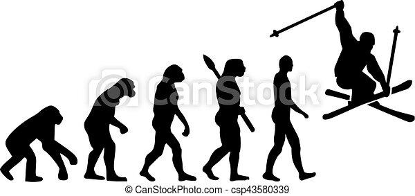 Evolución de dobles de esquí - csp43580339