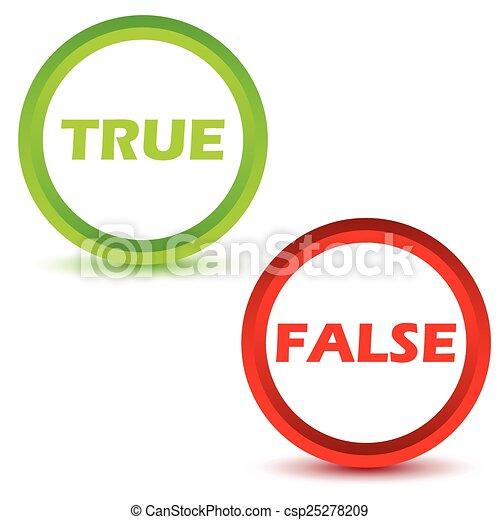 True false icons set - csp25278209