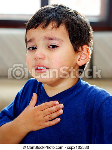 true tears and true emotions a little boy crying and showing his