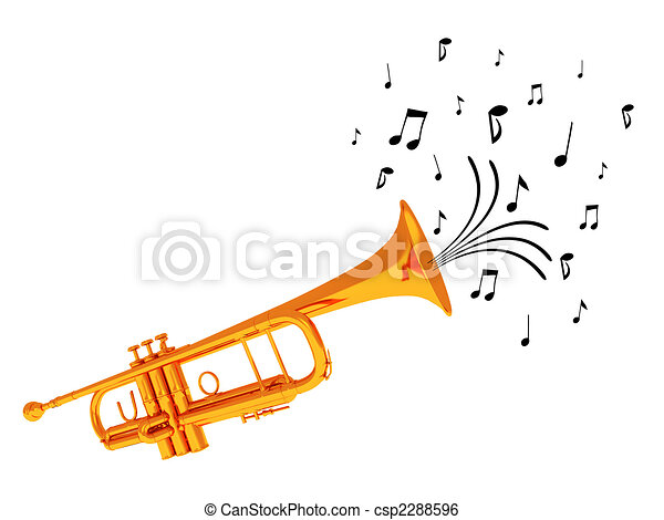 Trumpet blowing notes. - csp2288596
