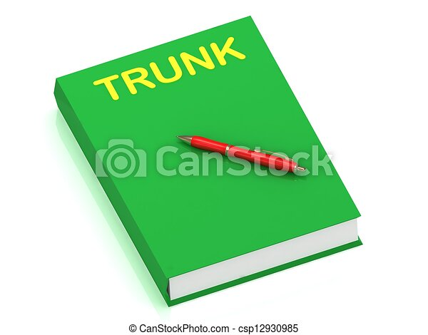 TRUNK inscription on cover book - csp12930985