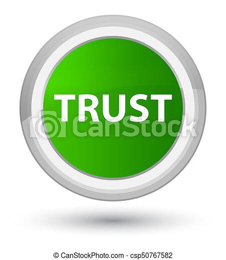 Trust prime green round button - csp50767582