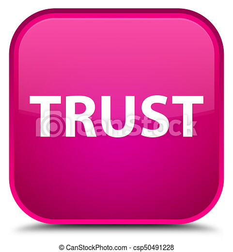 Trust special pink square button - csp50491228