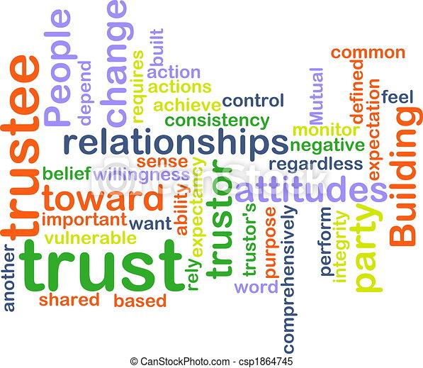 Trust wordcloud - csp1864745