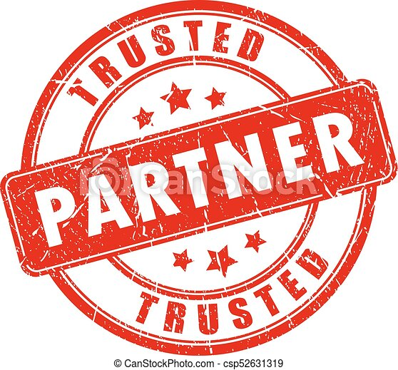 Trusted partner vector stamp - csp52631319