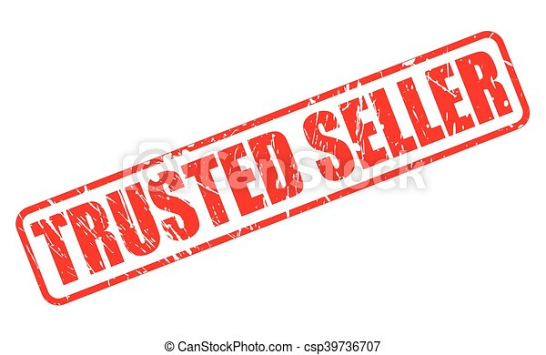 TRUSTED SELLER red stamp text - csp39736707