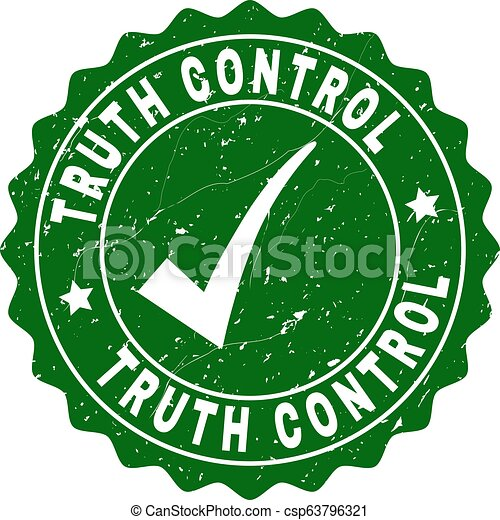 Truth Control Scratched Stamp with Tick - csp63796321