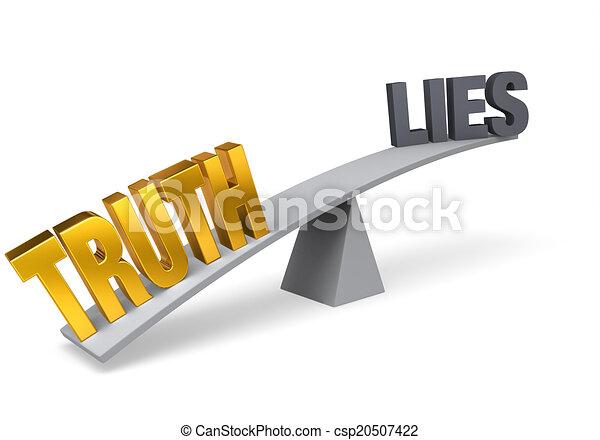 Truth Outweighs Lies - csp20507422