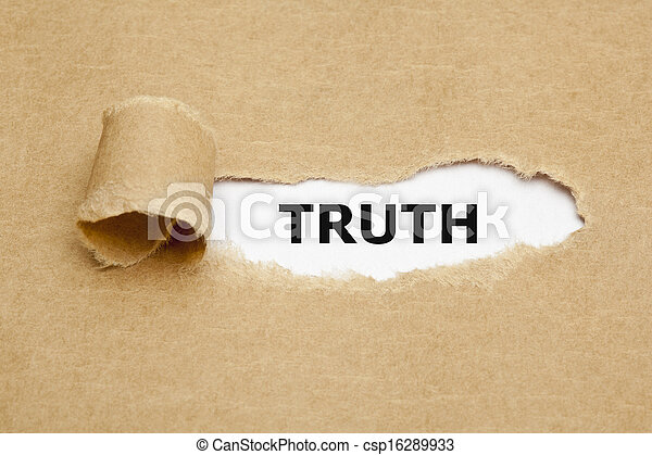 Truth Torn Paper - csp16289933