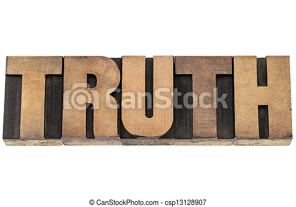 truth word in wood type - csp13128907