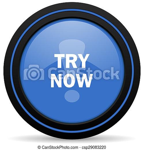 try now icon - csp29083220