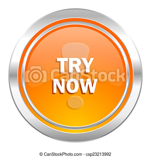 try now icon - csp23213992