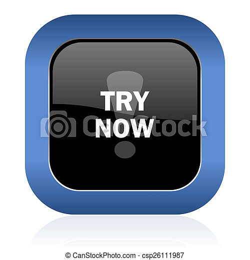 try now square glossy icon - csp26111987