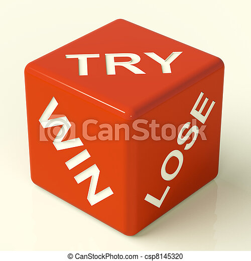 Try Win Lose Red Dice Showing Gambling And Luck - csp8145320