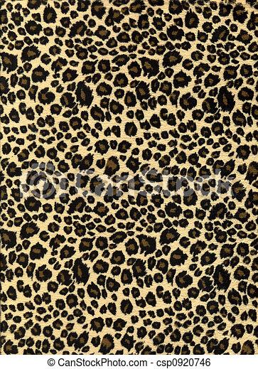 tryck, leopard, tyg, struktur - csp0920746