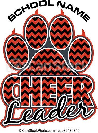 tryk, cheerleader, pote - csp39434340