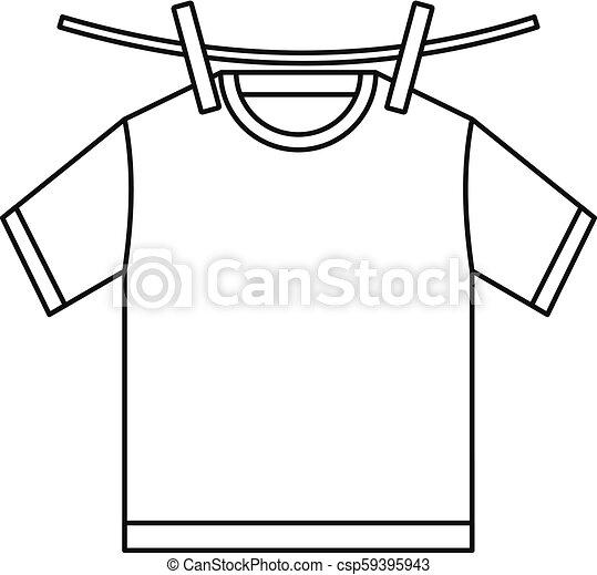 Tshirt Dry Icon Outline Style Tshirt Dry Icon Outline