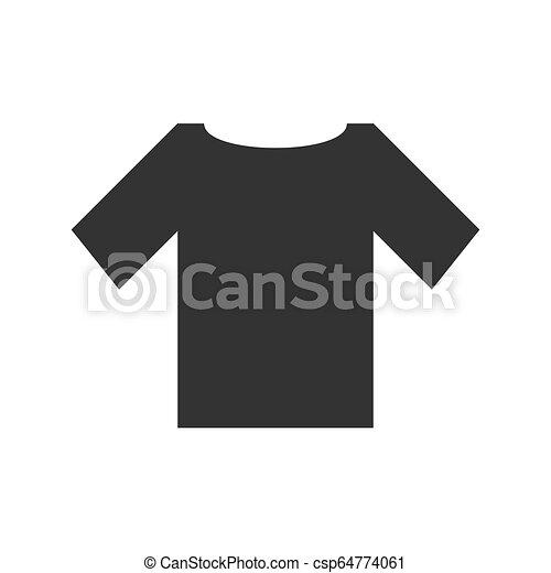 tshirt icon flat tshirt black icon flat on white background can stock photo