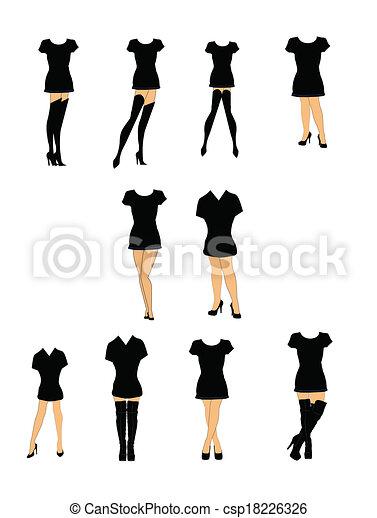 tshirts and heels  - csp18226326
