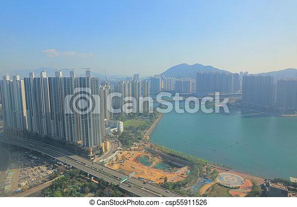Tsuen Wan in Hong Kong - csp55911526