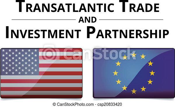 ttip, association, -, commercer, transatlantique, investissement - csp20833420