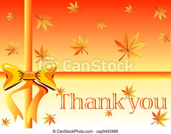 tu, agradecer, cartão - csp0443496