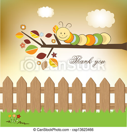 tu, agradecer, cartão - csp13623466
