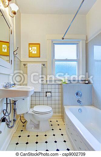 tub., badezimmer, weißes, altes , fliesenmuster
