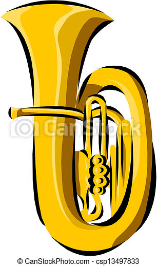 tuba vectors search clip art illustration drawings and eps rh canstockphoto com Trombone Clip Art tuba clipart