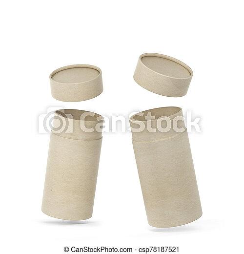 Tube cardboard package mockup - csp78187521