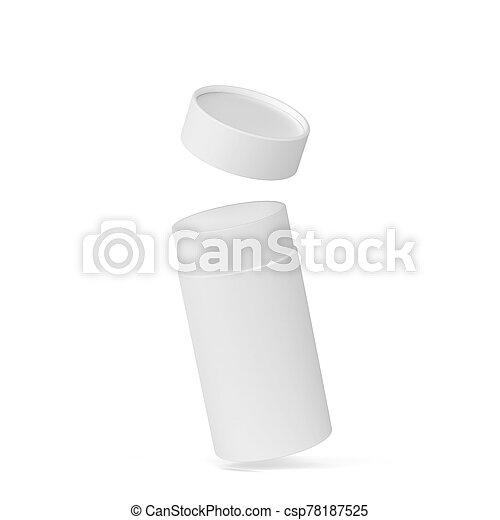 Tube cardboard package mockup - csp78187525
