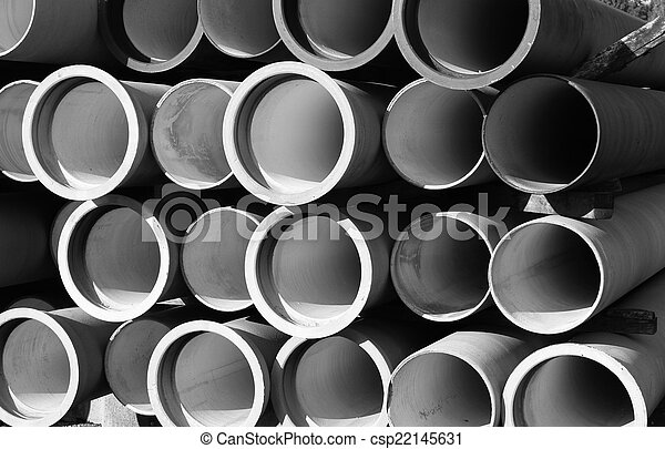 tubes for waterworks and sewer system of the city - csp22145631