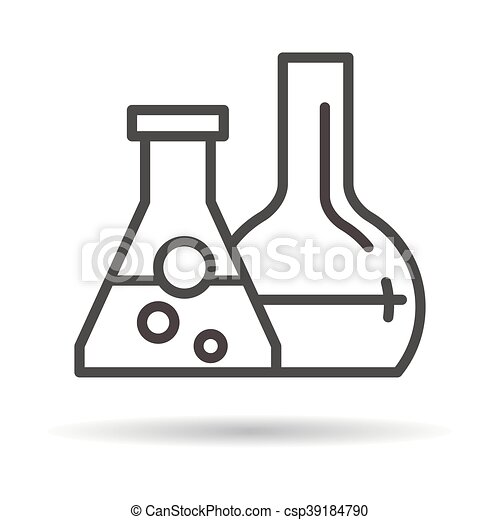 tubes with reagents flat icon - csp39184790