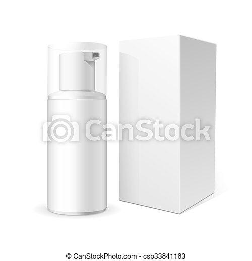 tubo, schiuma, o, crema - csp33841183