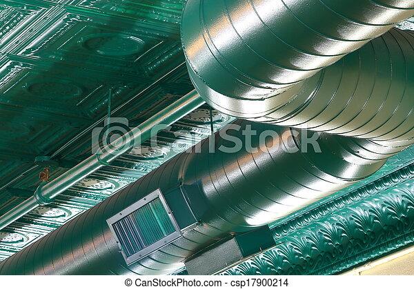 tubo, trabalho, condicionamento, ar - csp17900214