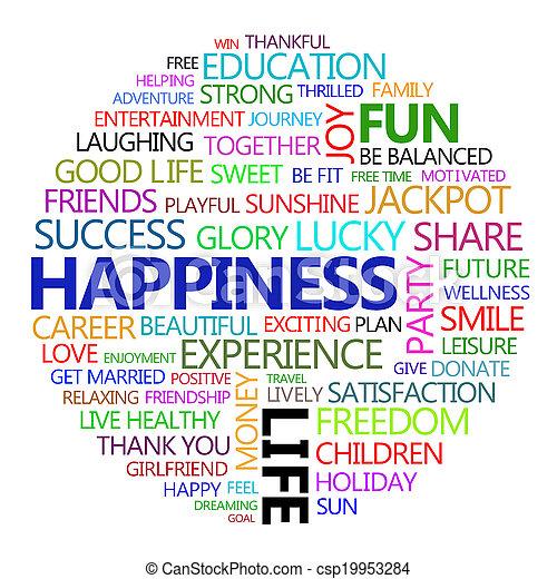 tudo, aproximadamente, felicidade - csp19953284