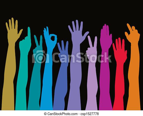tudo, raças, mãos - csp1527778