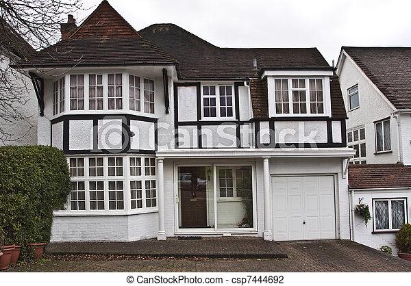 Tudor style house - csp7444692