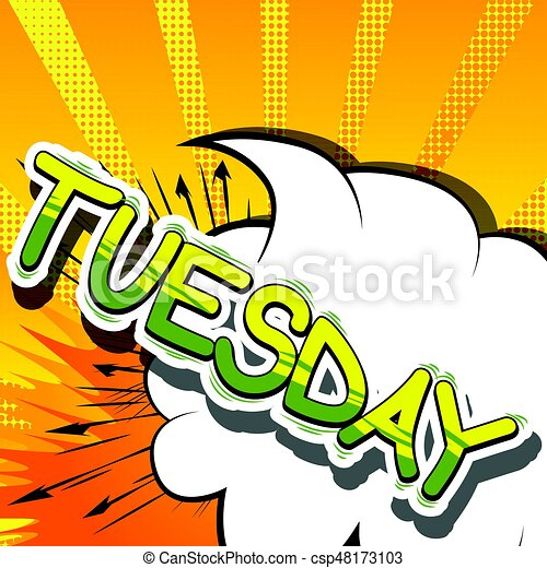 tuesday comic book style word tuesday comic book style rh canstockphoto com comic book vector free comic book vector art free