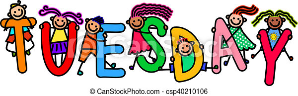 tuesday kids a group of happy stick children climbing over stock rh canstockphoto ca happy tuesday clipart free happy tuesday clipart free