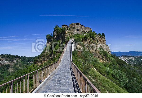 Tuff -stone village civita di bagnoreggio stock image - Search ...