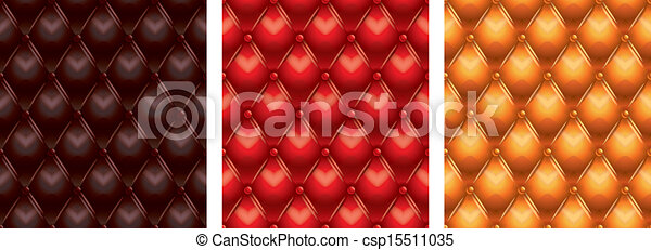 tufted leather seamless texture - csp15511035